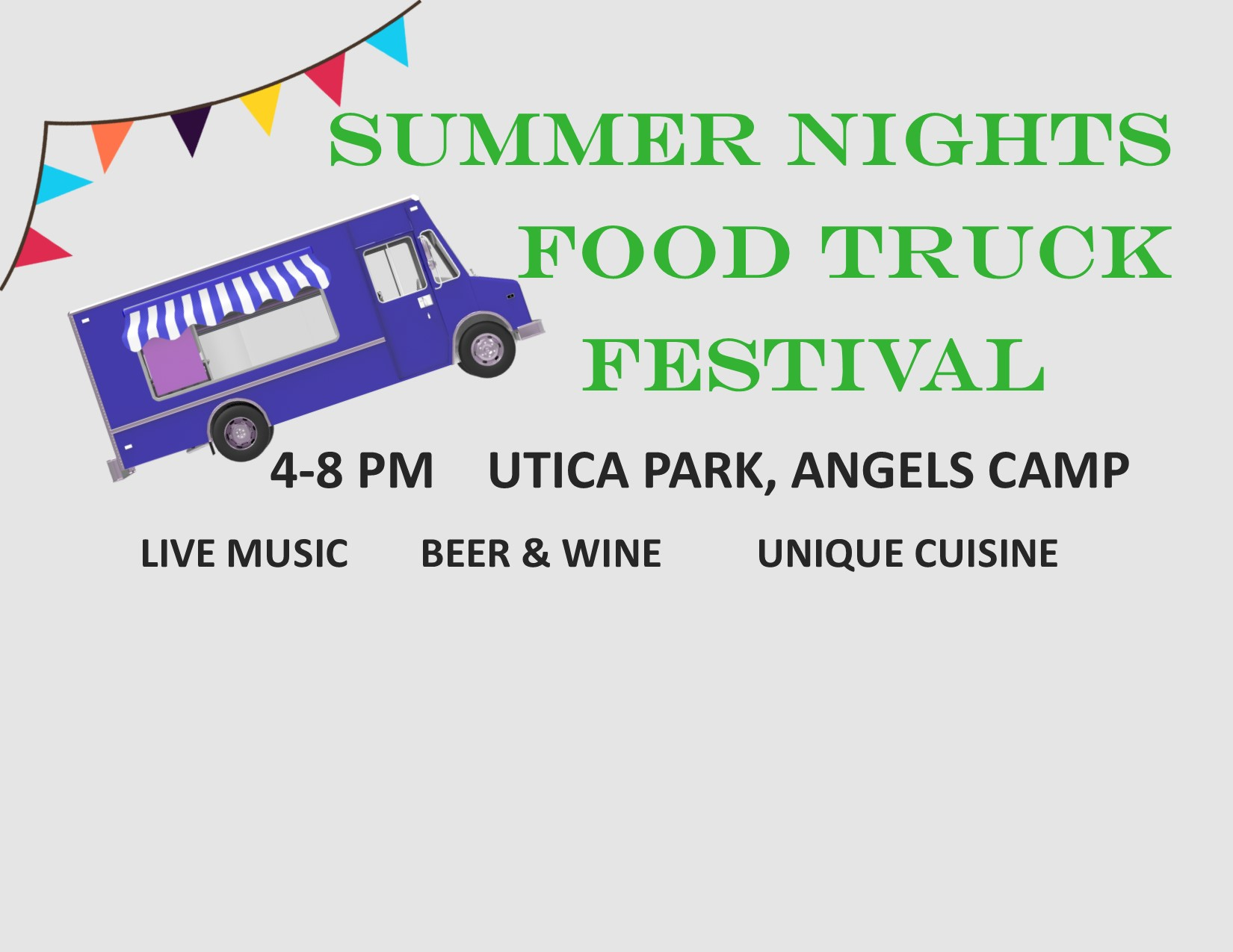 Truck Food Festival Utica Park Angesl Camp Ca