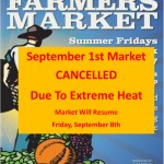MARKET CANCELLED 9-1-17