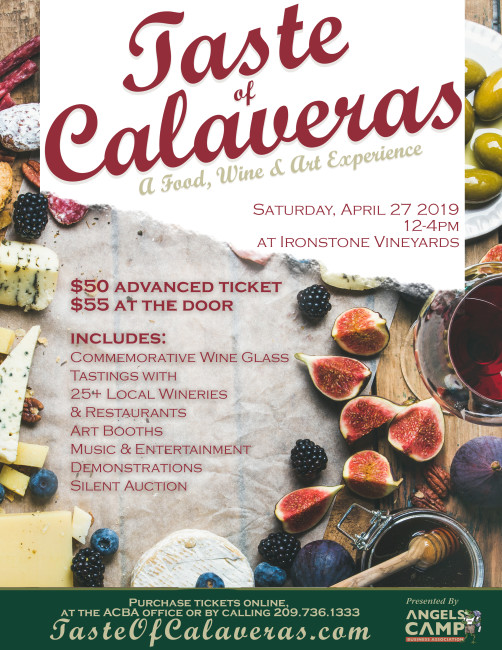 The 13th Annual Taste of Calaveras | Angels Camp Business